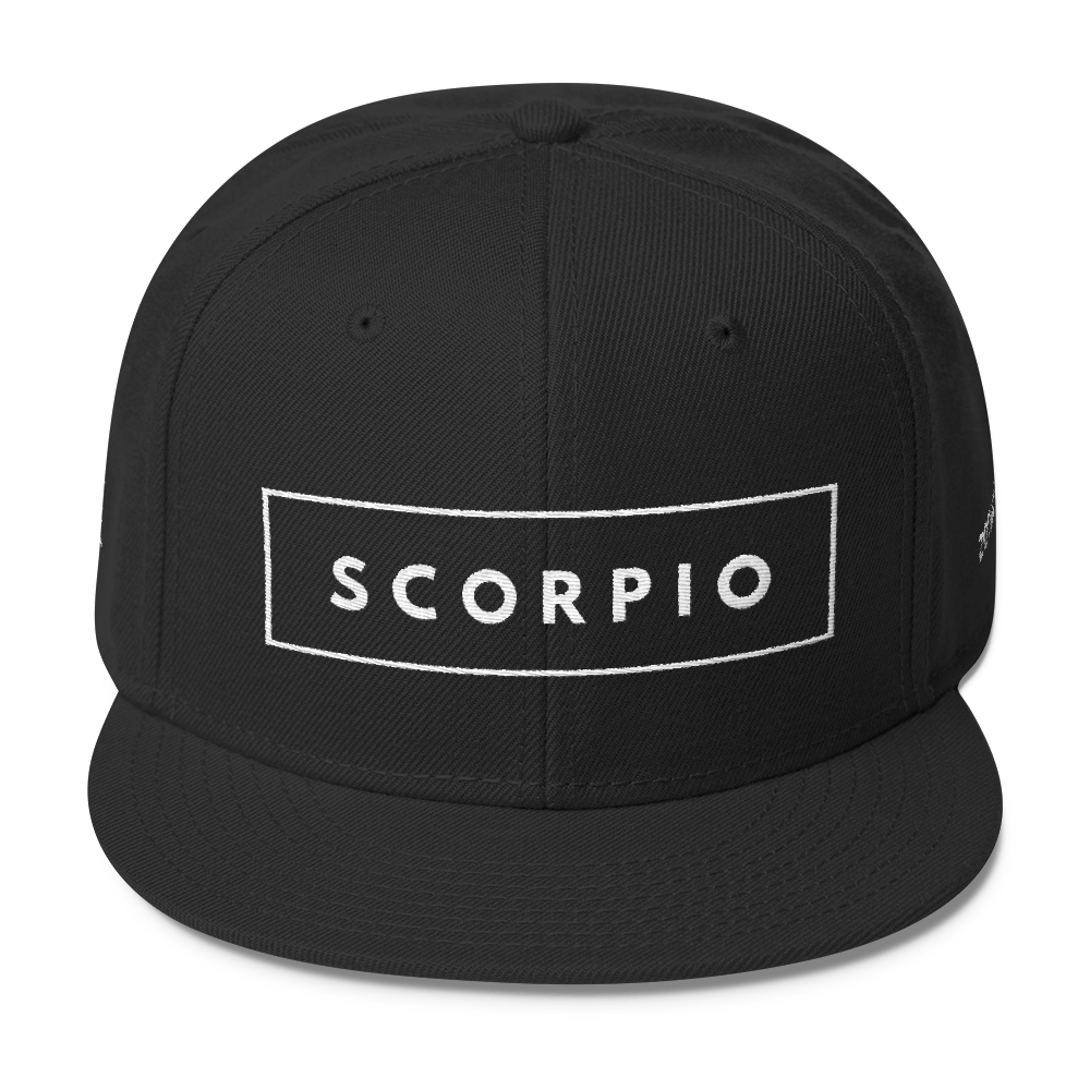 Boldy Represent Your Zodiac Sign Zodianz Scorpio Snapback