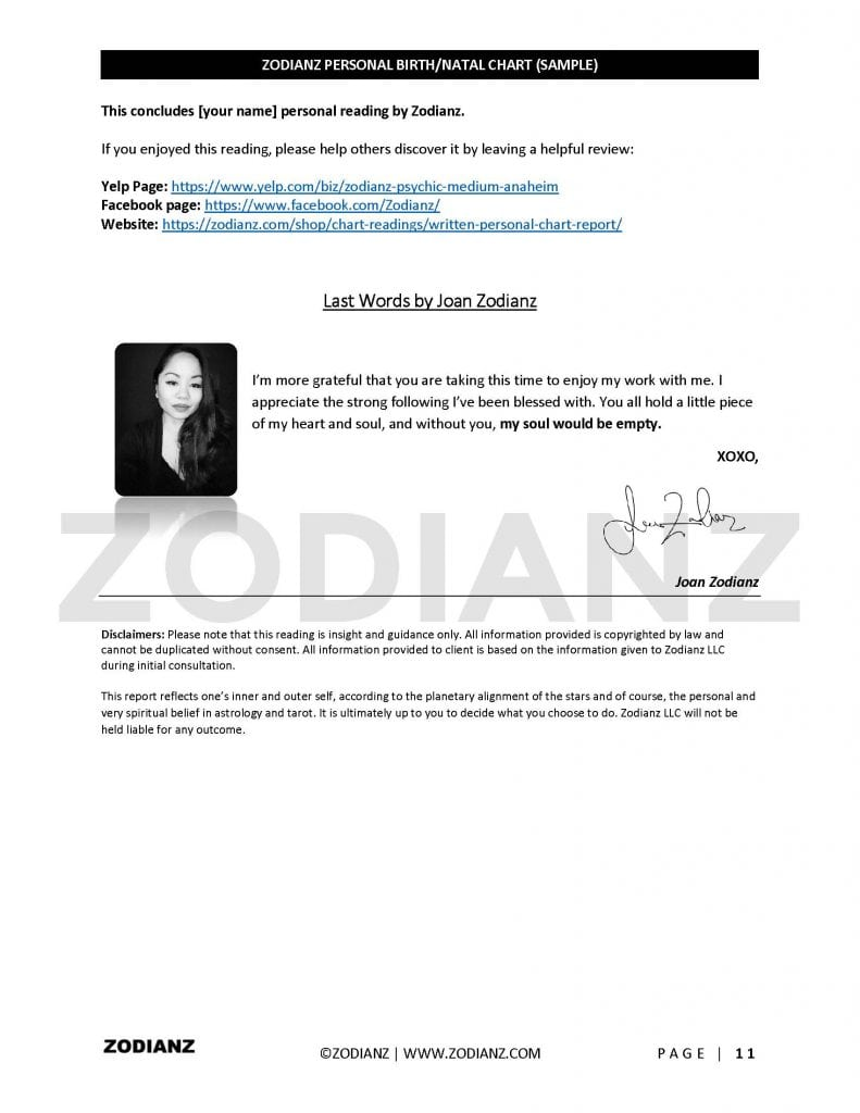 SAMPLE BIRTH CHART BY JOAN ZODIANZ - Zodianz