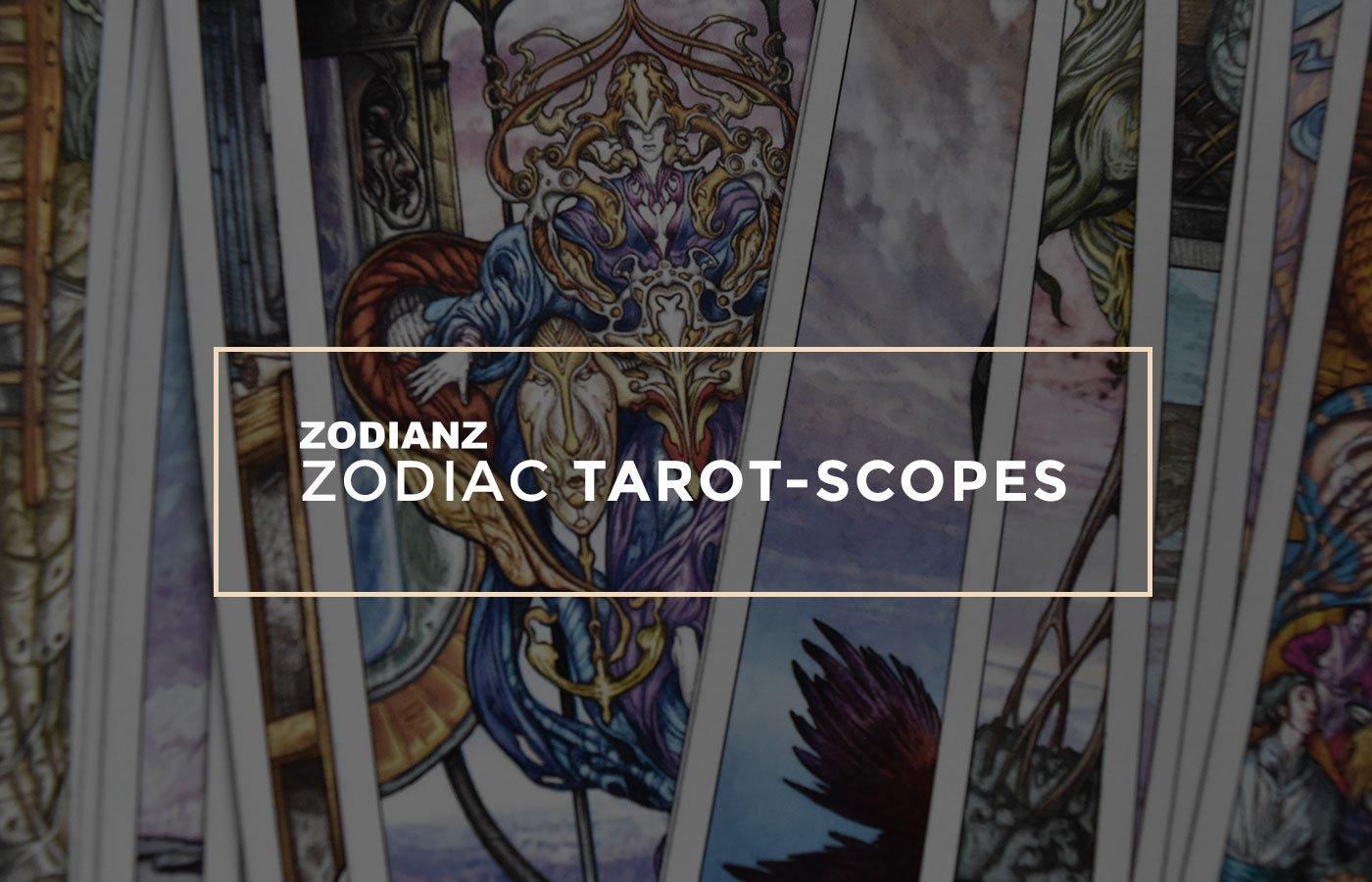 Zodianz Zodiac Tarot-Scopes Page by Joan Zodianz