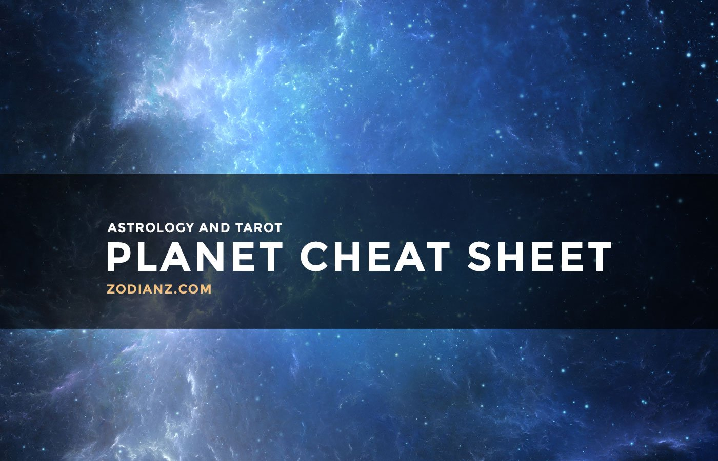 Astrology and Tarot Planet Cheat Sheet by Joan Zodianz