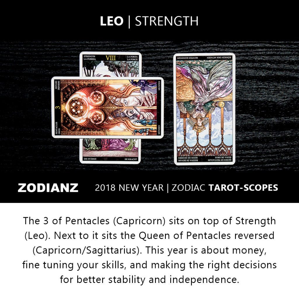Leo 2018 Zodiac Tarot-Scope by Joan Zodianz