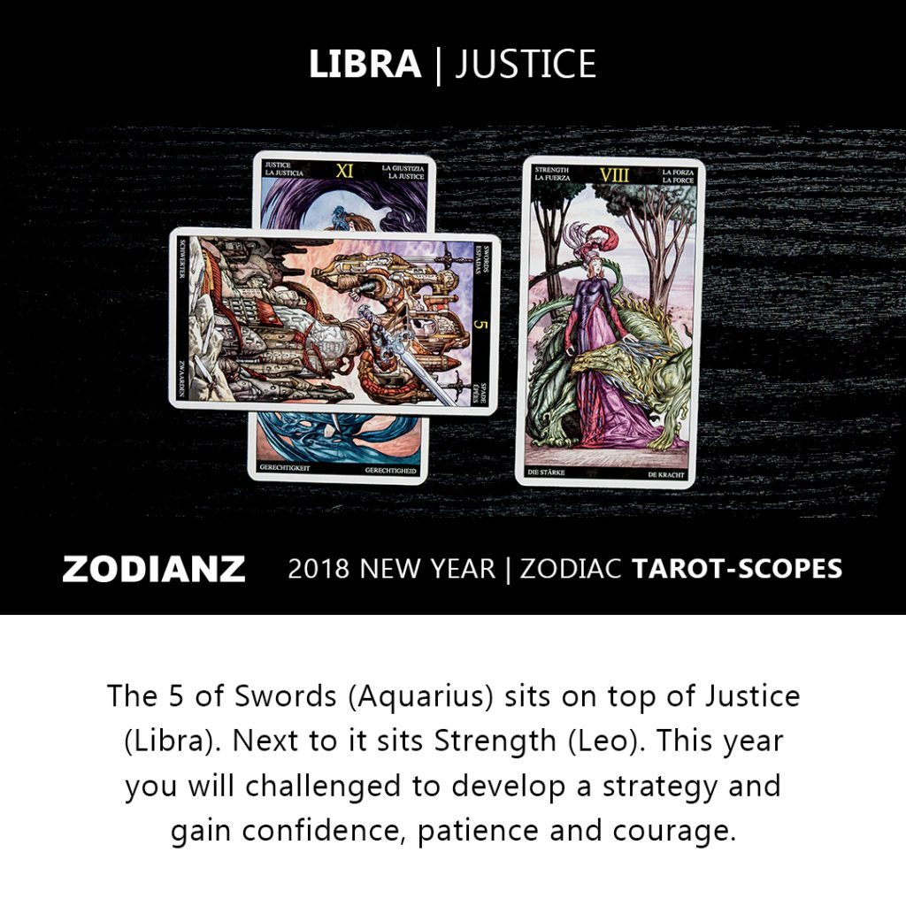 Libra 2018 Zodiac Tarot-Scope by Joan Zodianz