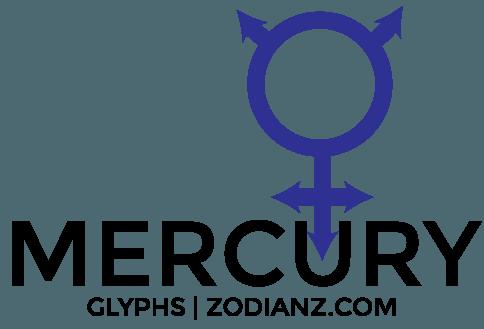 Mercury Glyph Planet by Joan Zodianz