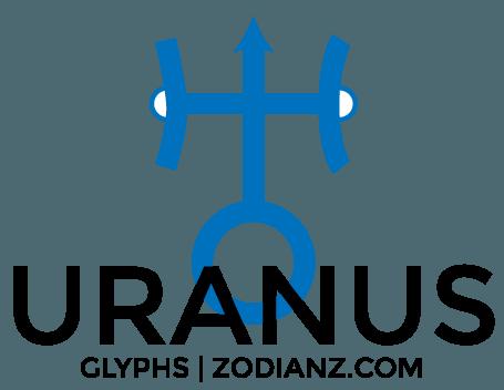 Uranus Glyph Planet by Joan Zodianz