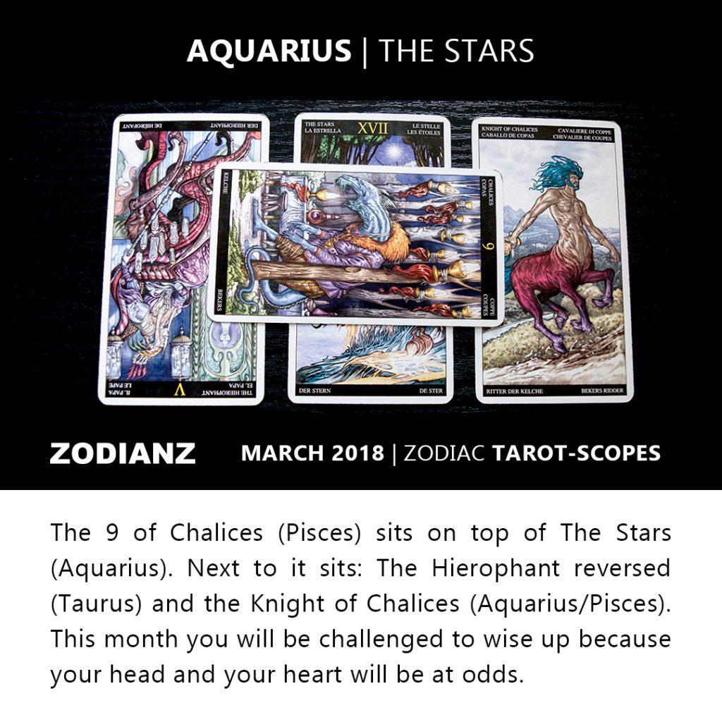 Aquarius March 2018 Zodiac Tarot-Scope by Joan Zodianz