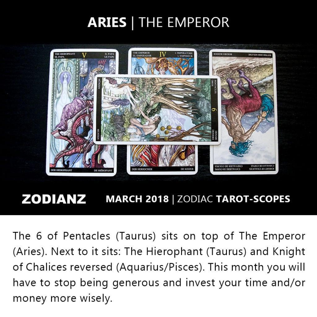 Aries March 2018 Zodiac Tarot-Scope by Joan Zodianz