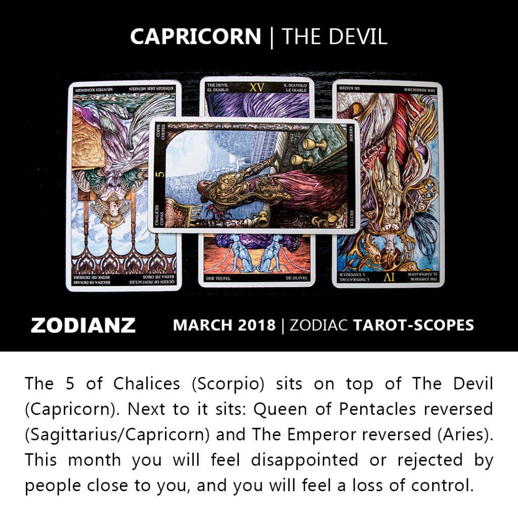 Capricorn March 2018 Zodiac Tarot-Scope by Joan Zodianz