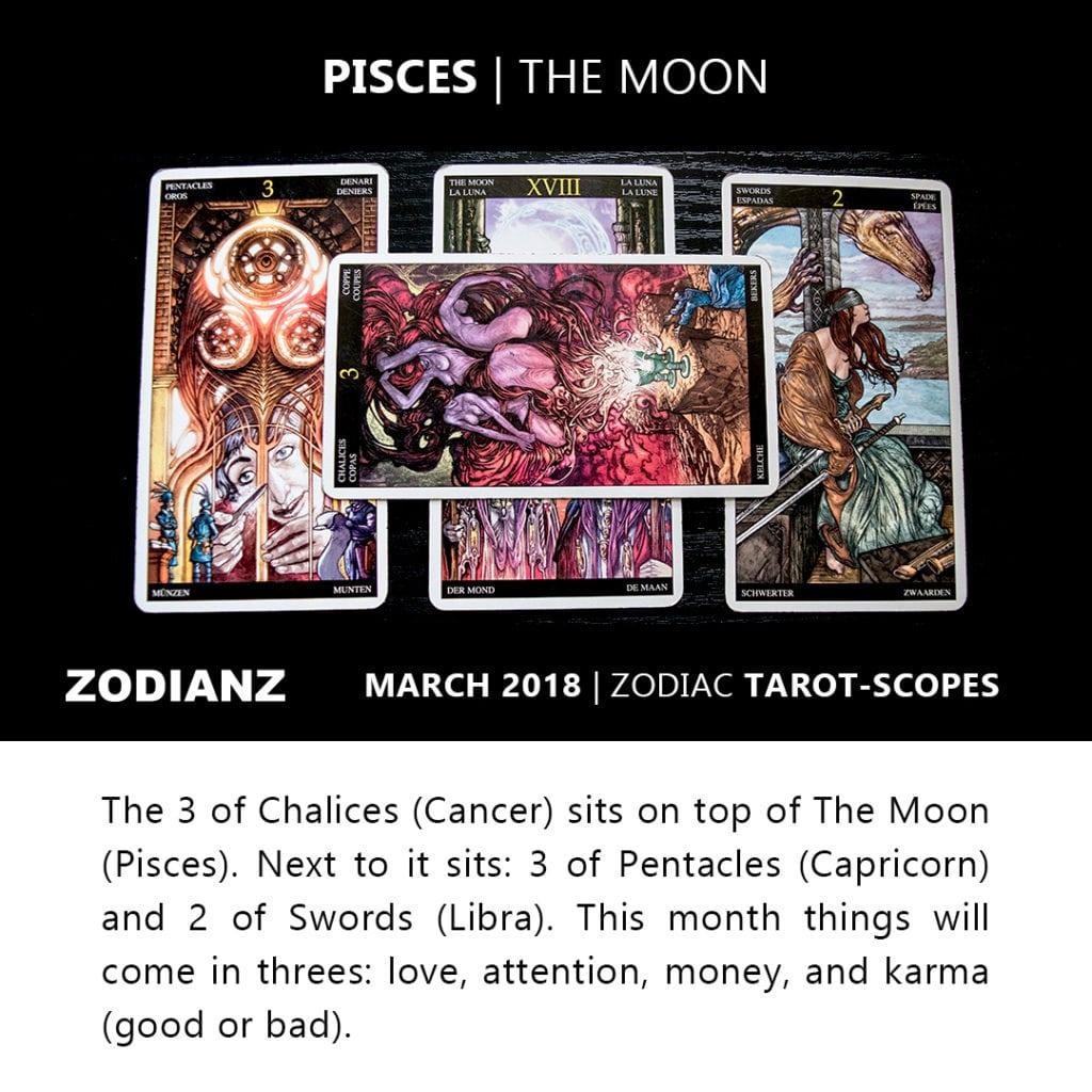 Pisces March 2018 Zodiac Tarot-Scope by Joan Zodianz