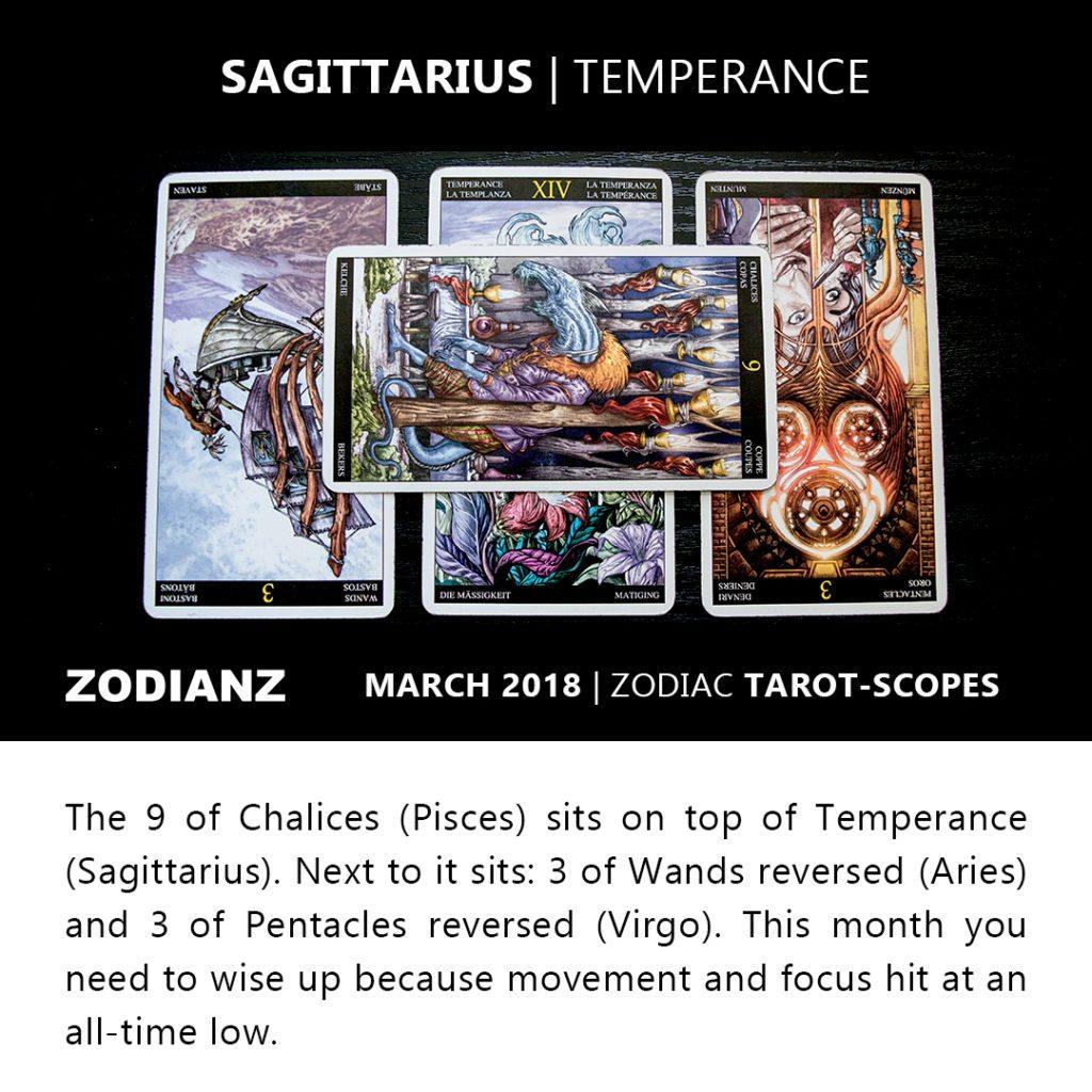 Sagittarius March 2018 Zodiac Tarot-Scope by Joan Zodianz