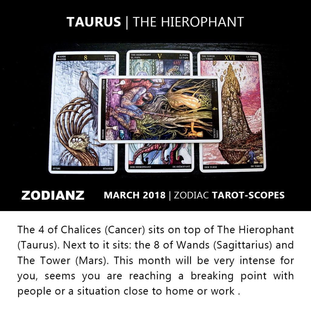 Taurus March 2018 Zodiac Tarot-Scope by Joan Zodianz