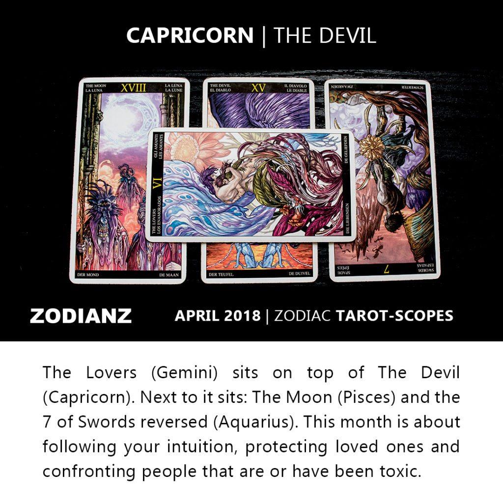 CAPRICORN ZODIANZ APRIL 2018 ZODIAC TAROT-SCOPES
