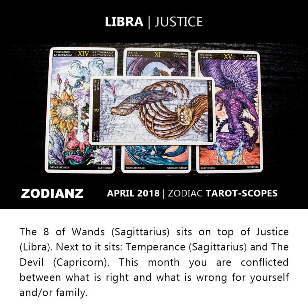 LIBRA ZODIANZ APRIL 2018 ZODIAC TAROT-SCOPES
