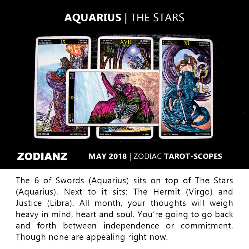 Aquarius May 2018 Zodiac Tarot-Scopes