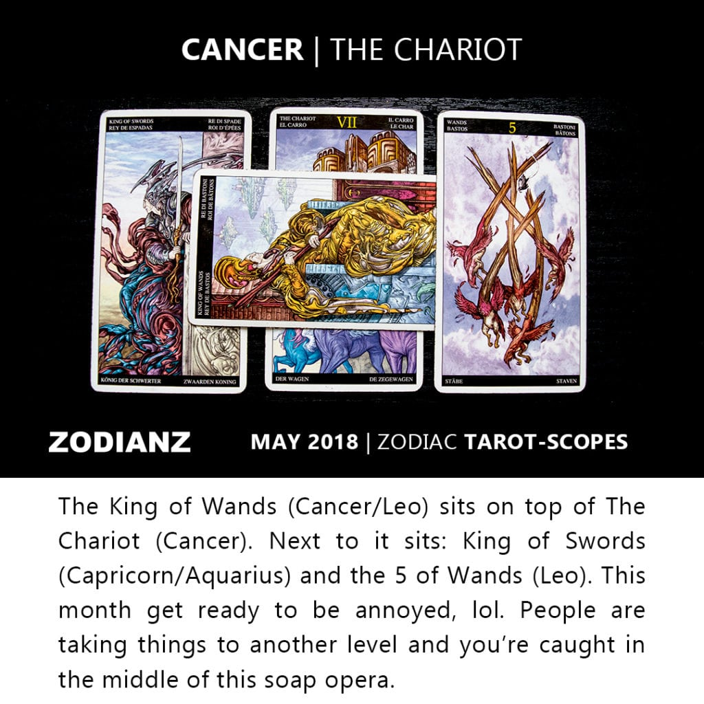 Cancer May 2018 Zodiac Tarot-Scopes