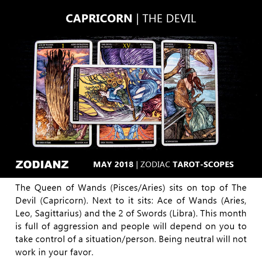 Capricorn May 2018 Zodiac Tarot-Scopes