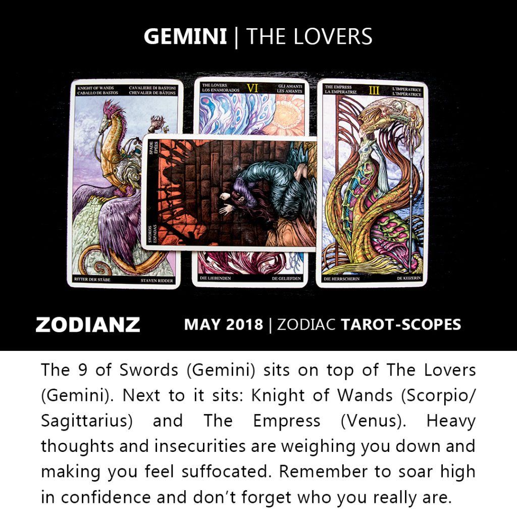Gemini May 2018 Zodiac Tarot-Scopes