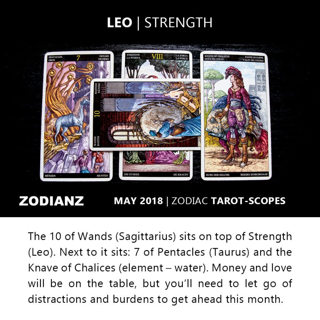 Leo May 2018 Zodiac Tarot-Scopes