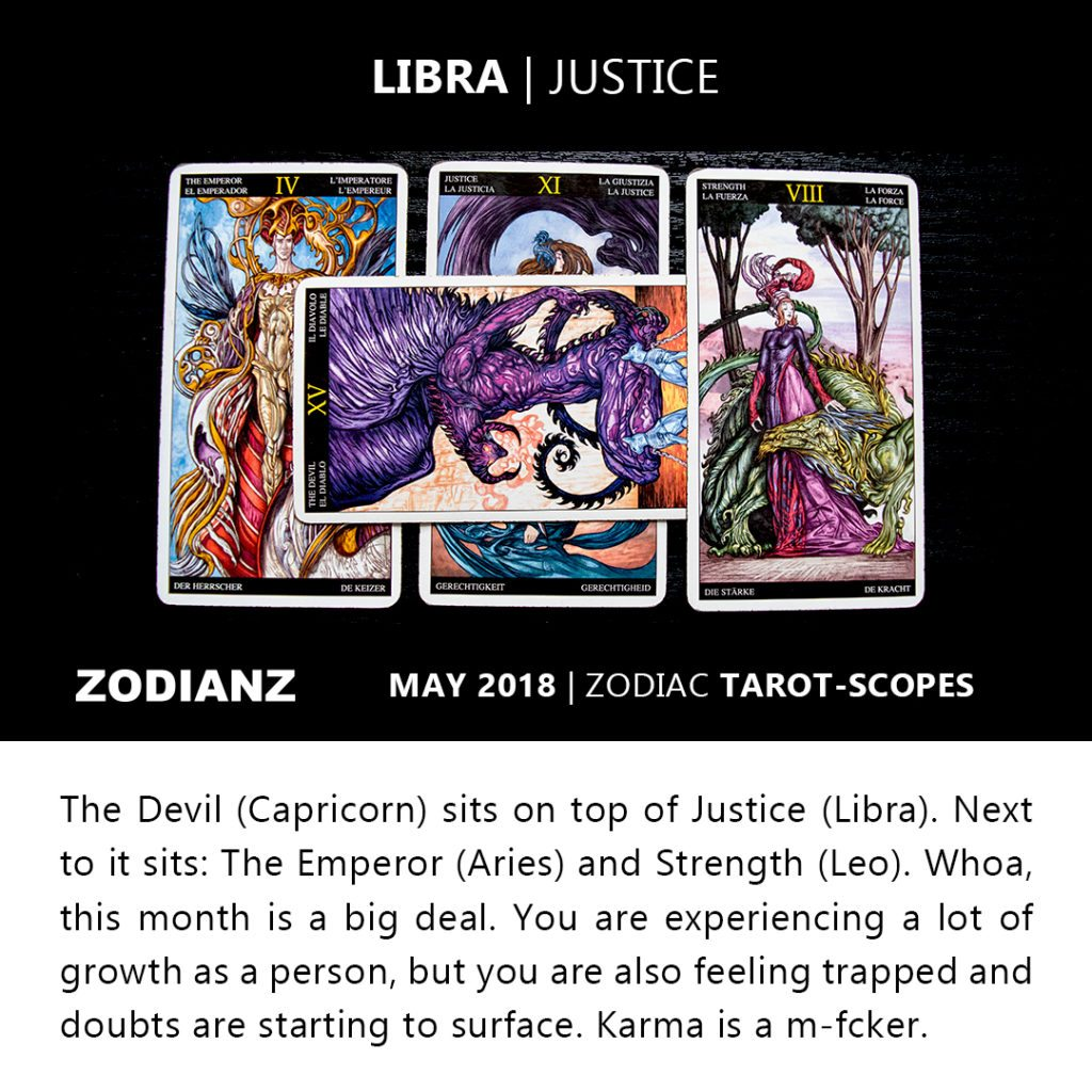 Libra May 2018 Zodiac Tarot-Scopes