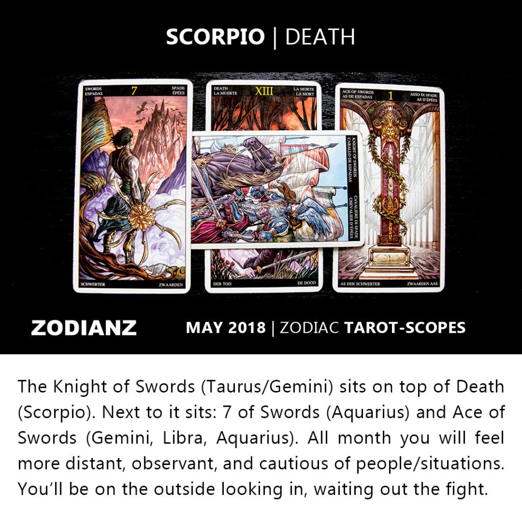Scorpio May 2018 Zodiac Tarot-Scopes