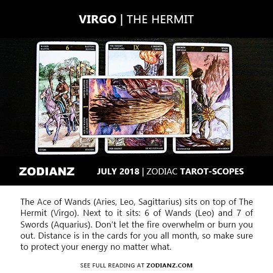 VIRGO JULY 2018 ZODIAC TAROT-SCOPES BY JOAN ZODIANZ