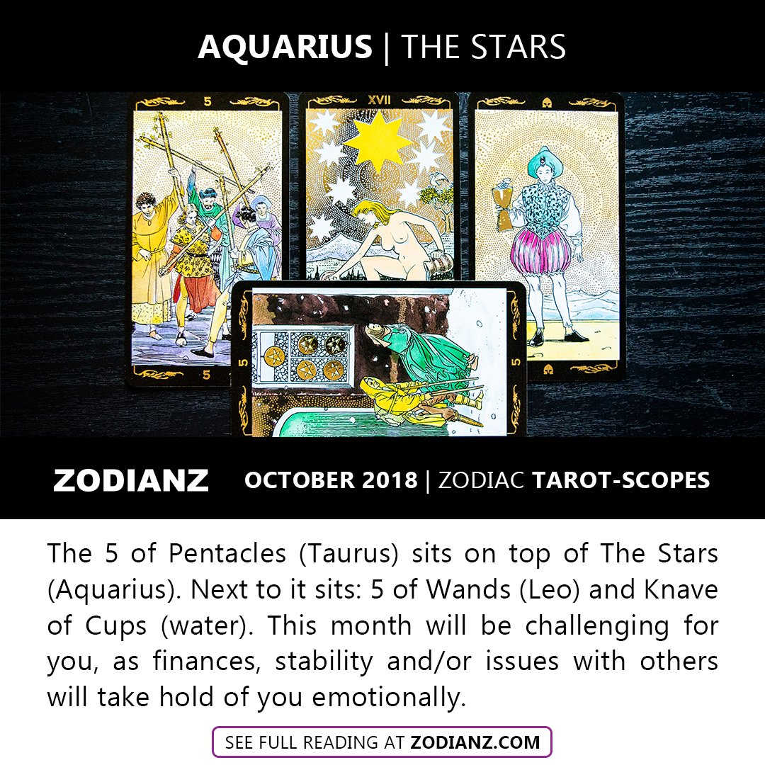 AQUARIUS OCTOBER 2018 ZODIAC TAROT-SCOPES BY JOAN ZODIANZ - Zodianz