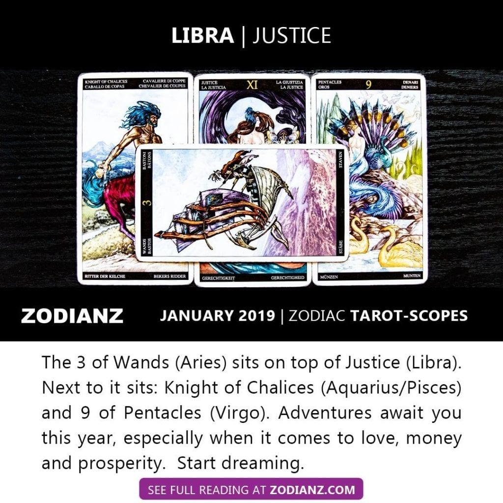 ZODIANZ JANUARY 2019 ZODIAC TAROTSCOPES - LIBRA