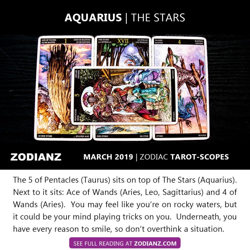 ZODIANZ MARCH 2019 ZODIAC TAROT-SCOPES AQUARIUS