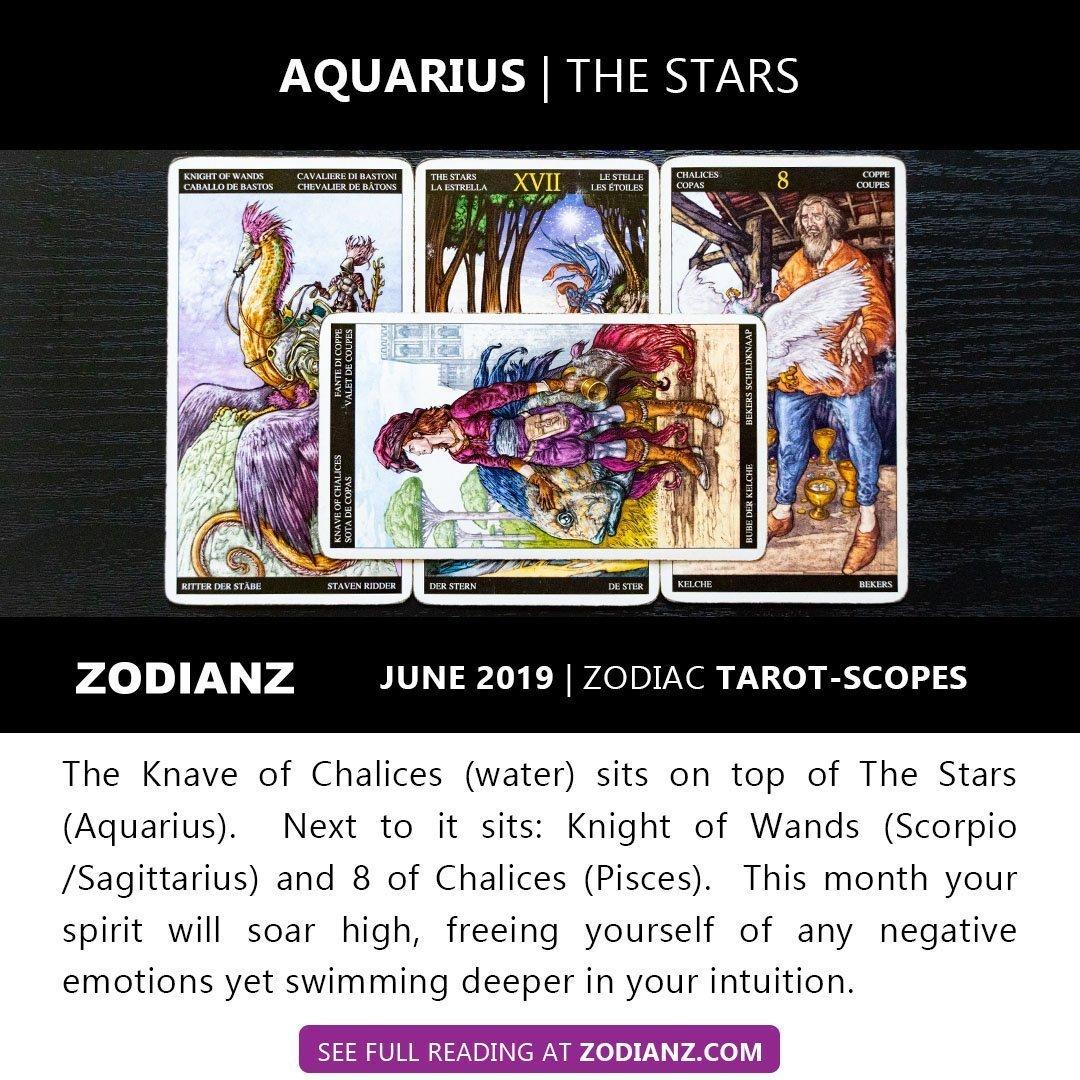 AQUARIUS JUNE 2019 ZODIAC TAROTSCOPES