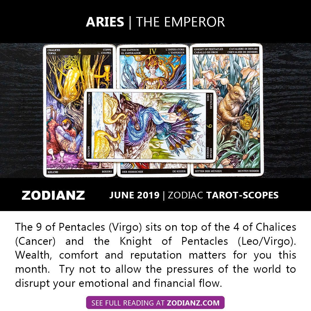 June 2019 Zodiac Tarot-Scopes - Zodianz