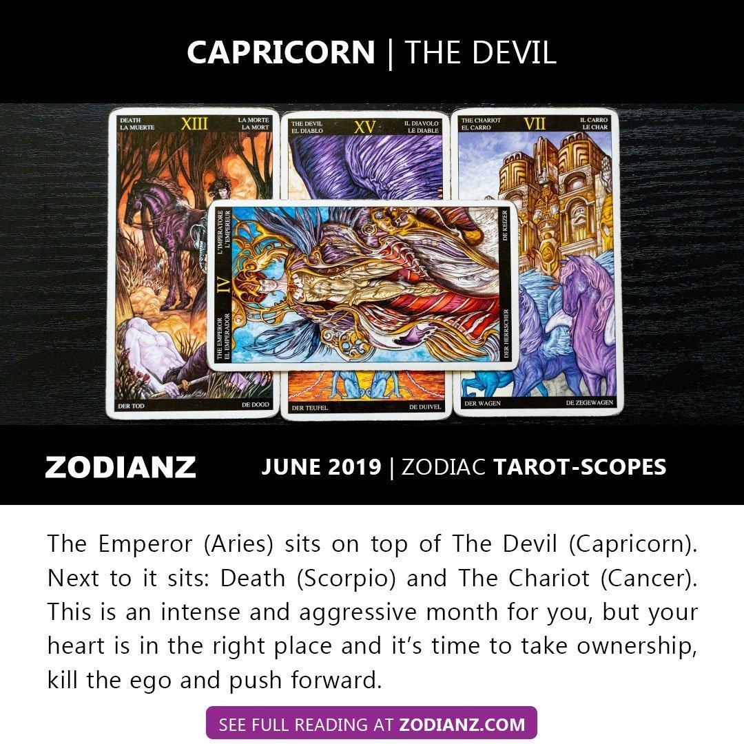 CAPRICORN JUNE 2019 ZODIAC TAROTSCOPES