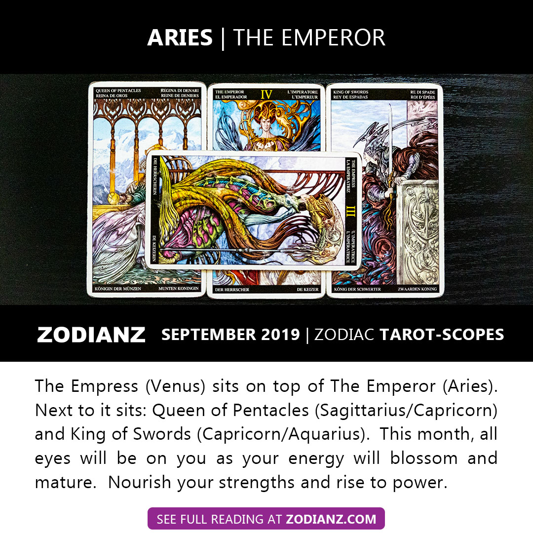 ZODIANZ SEPTEMBER 2019 ZODIAC TAROTSCOPES - ARIES