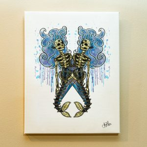 Pisces Zodiac Canvas Print by Joan Zodianz