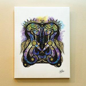 Gemini Zodiac Canvas Print by Joan Zodianz