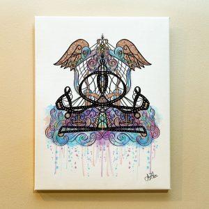 Libra Zodiac Canvas Print by Joan Zodianz