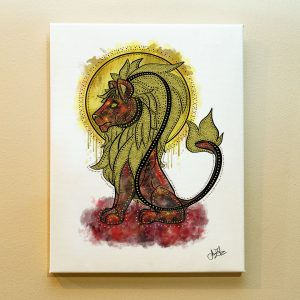 Leo Zodiac Canvas Print by Joan Zodianz