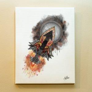Sagittarius Zodiac Canvas Print by Joan Zodianz