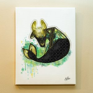 Capricorn Zodiac Canvas Print by Joan Zodianz