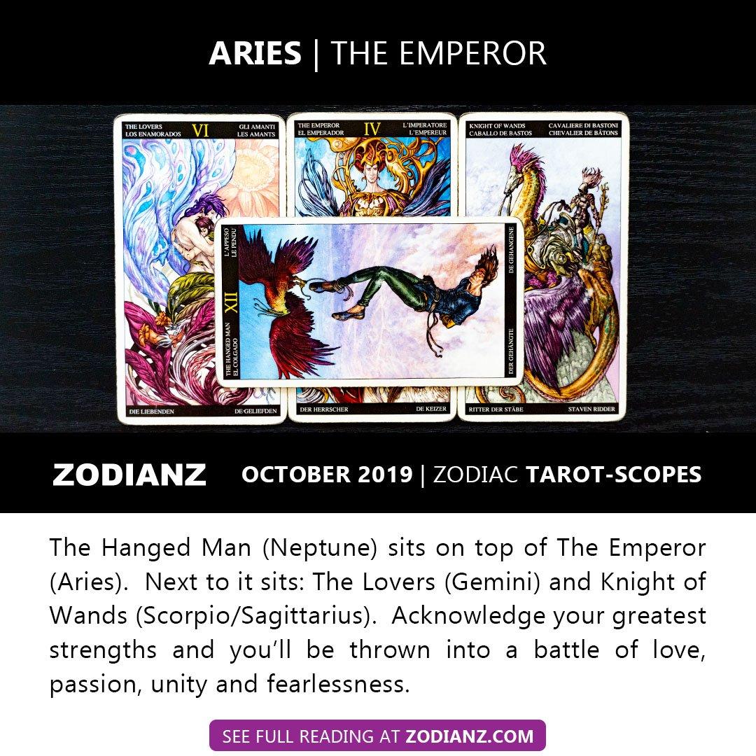ZODIANZ OCTOBER 2019 ZODIAC TAROTSCOPES - ARIES