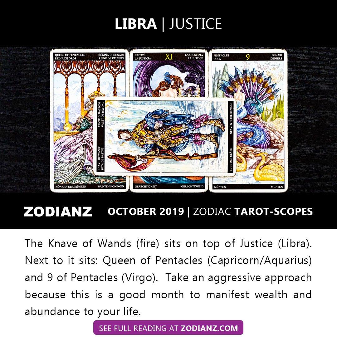 ZODIANZ OCTOBER 2019 ZODIAC TAROTSCOPES - LIBRA